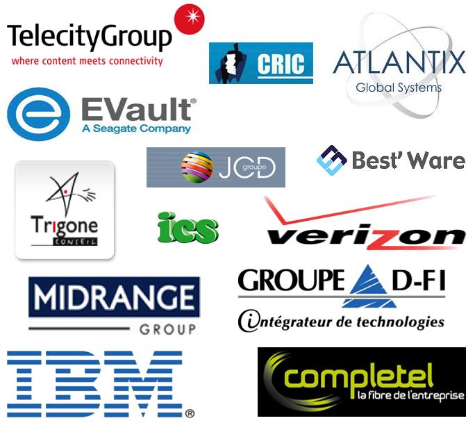 Télécity télécitygroup condorcet Tear4 tear 4 CRIC Atlantix JCD Groupe Best Ware bestware trigone informatique conseil evault e vault ICS verizon DFI Midrange IBM Complétel completel fibre intégrateur de technologie hébergement sécurité company partenaires partenariat